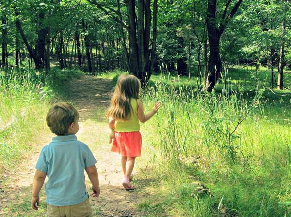 passeggiare nel verde