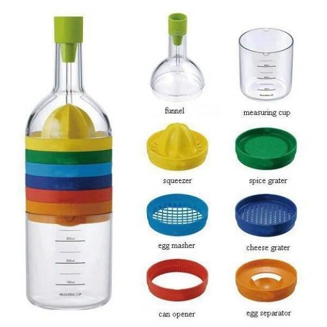 5 bottiglia multiuso