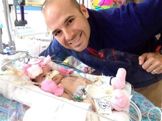 padre e figlia operata al cuore