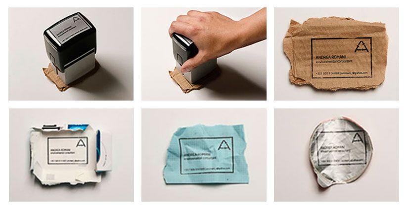 tarjetas sostenibles sello