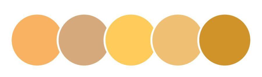 color naranja, círculos