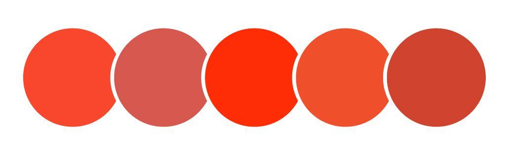 color rojo, círculos