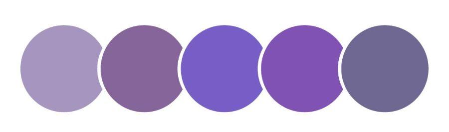 color violeta, círculos