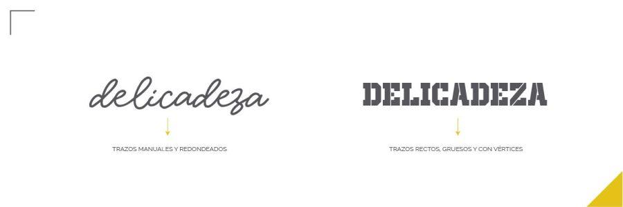 Errores tipográficos, personalidad tipográfica. Tipografía delicada.