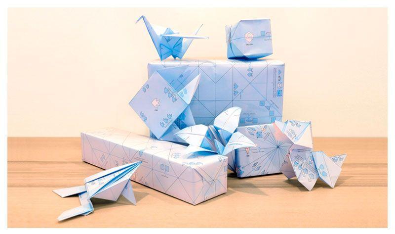 papel regalo origami