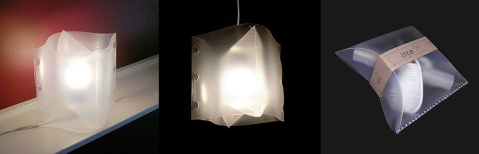 Envase que se convierte en lámpara
