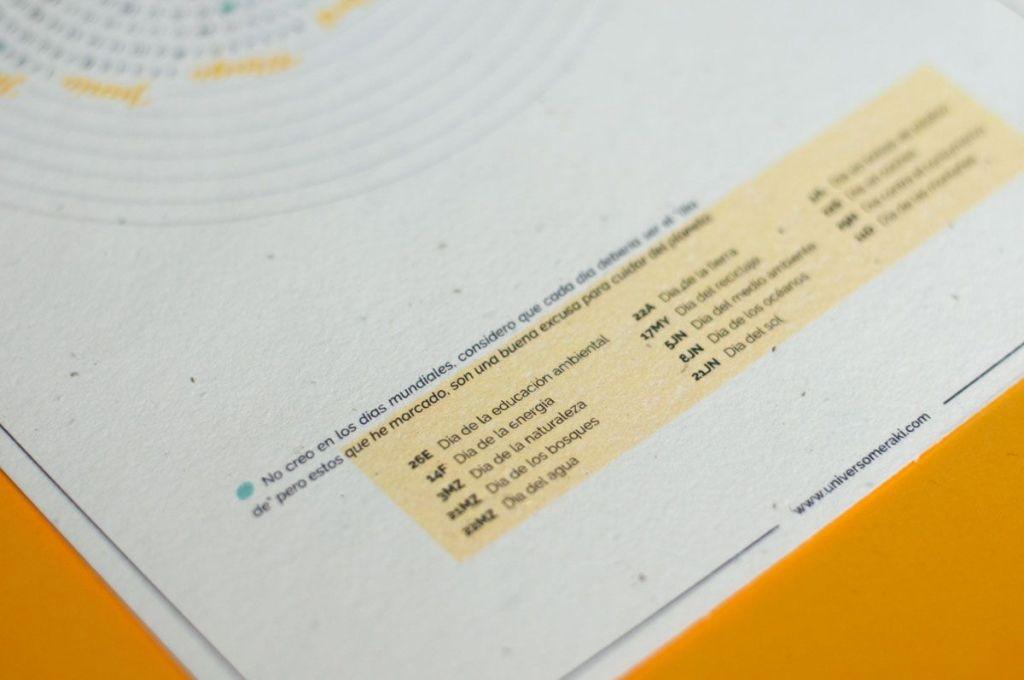 Detalle calendario corporativo días mundiales