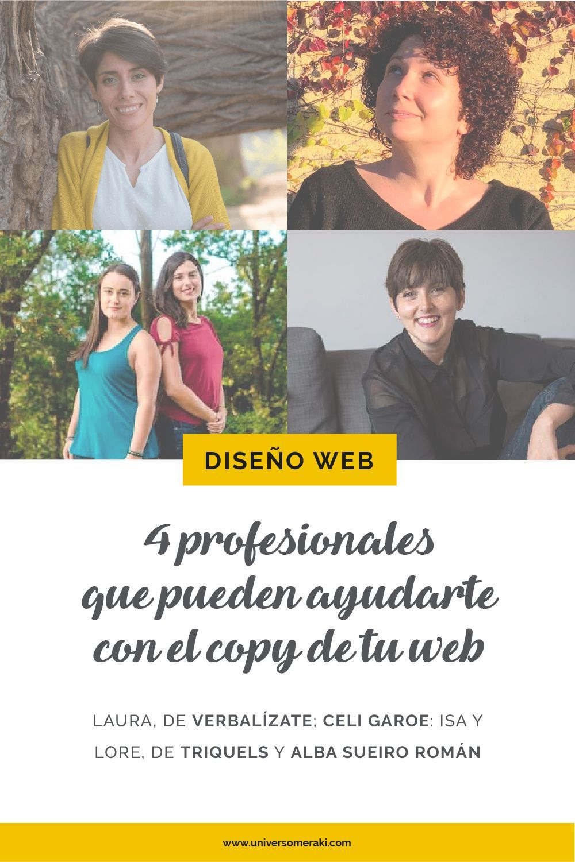 4 profesionales que pueden ayudarte con el copy de tu web
