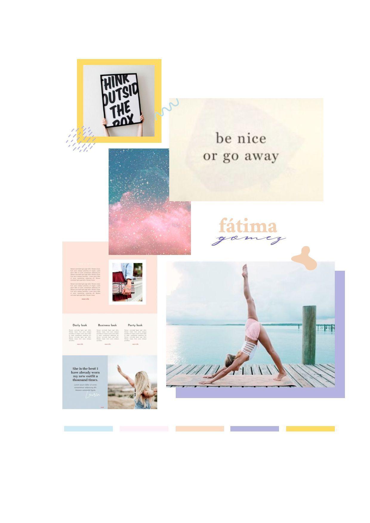 Moodboard previo al diseño de marca de Fátima Gomez