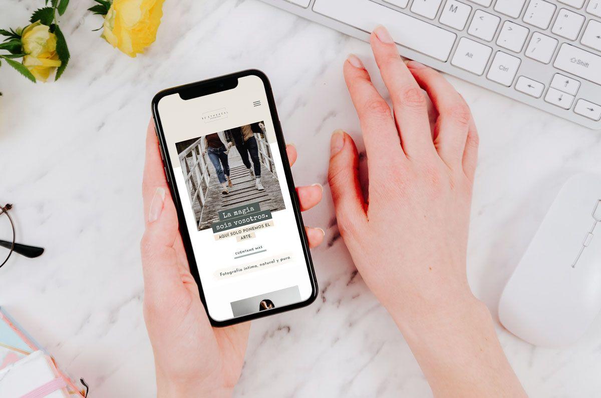 Diseño web fotografía responsive