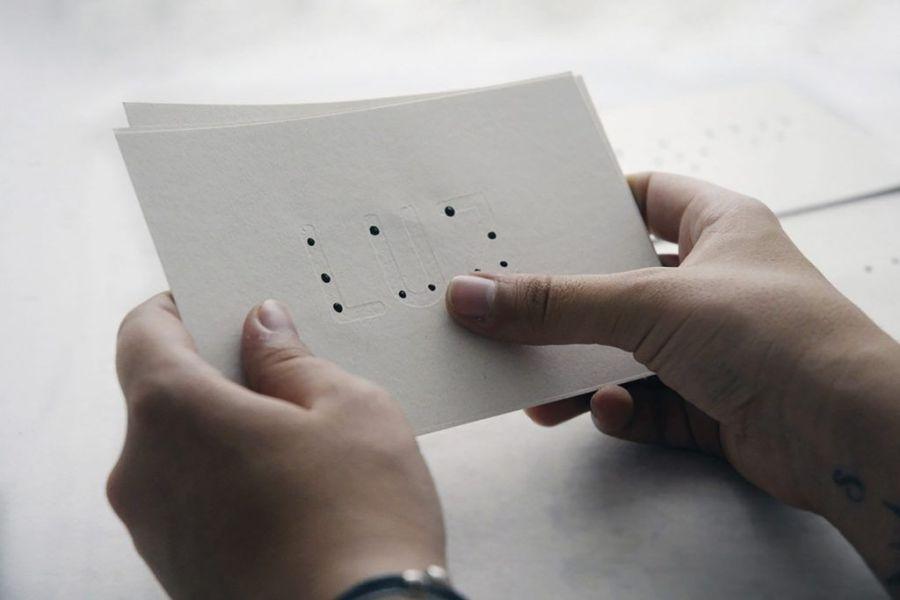 diseño sostenible, tipografía braille latina