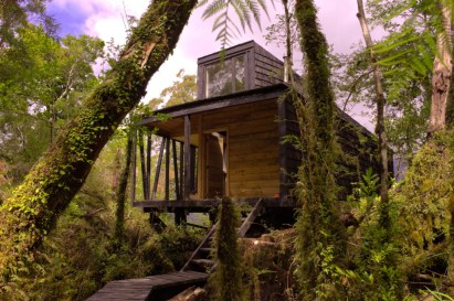 Melimoyu Cabin, na baía de Melimoyu, no Chile. (Divulgação/Samuel Bravo)