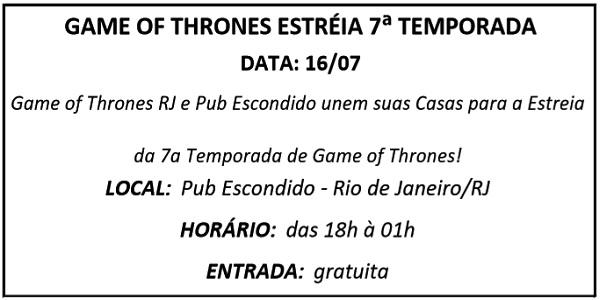 16 GAME OF THRONES - Agenda