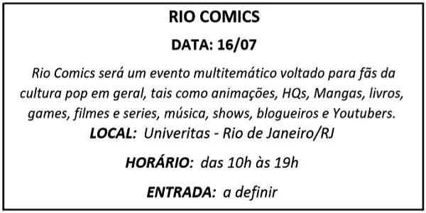 16 RIO COMICS - Agenda