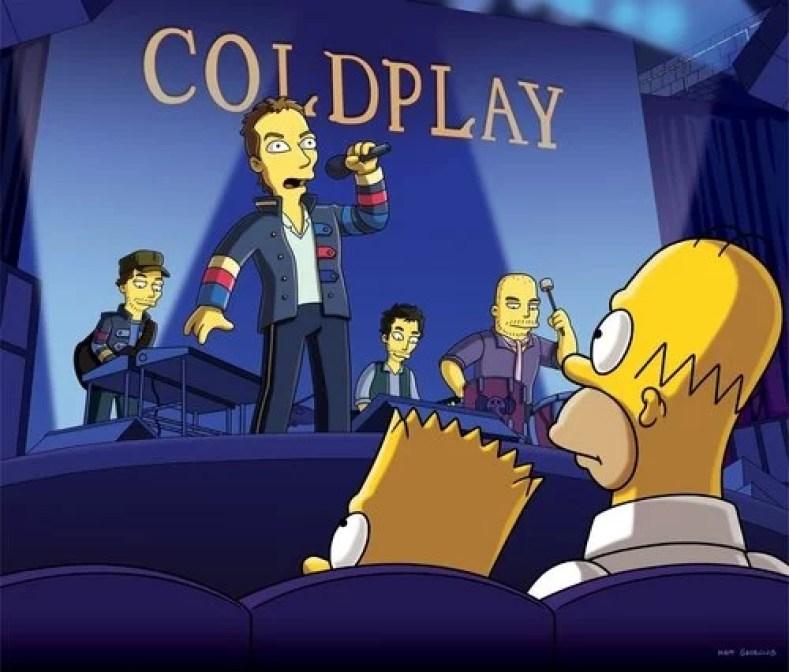 """Figura 2 Coldplay - Os Simpsons de """"A"""" À """"Z"""": Paródias De Filmes, Personalidades Famosas, Personagens E Curiosidades (Parte 8)"""