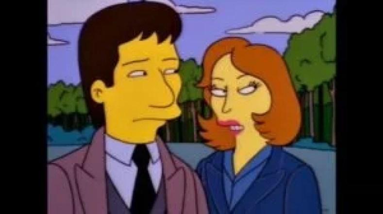 """MULDER E SCULLY 300x168 - Os Simpsons de """"A"""" À """"Z"""": Paródias De Filmes, Personalidades Famosas, Personagens E Curiosidades (Parte 6)"""