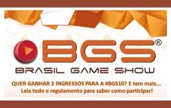 bgs10 promocao sorteio 1 - Sorteios: Ingressos BGS10 + Livro Do Evento!