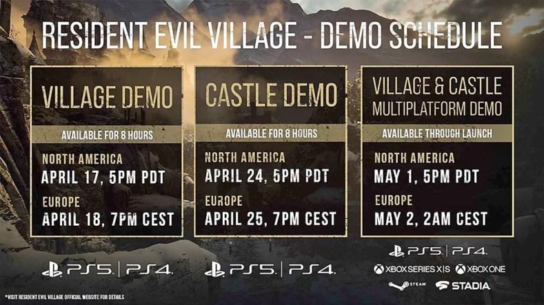 Resident Evil Village Demo Datas e Horarios - Uma Experiência Com A DEMO Village, Expectativas Para A DEMO Castle E Muito Mais!