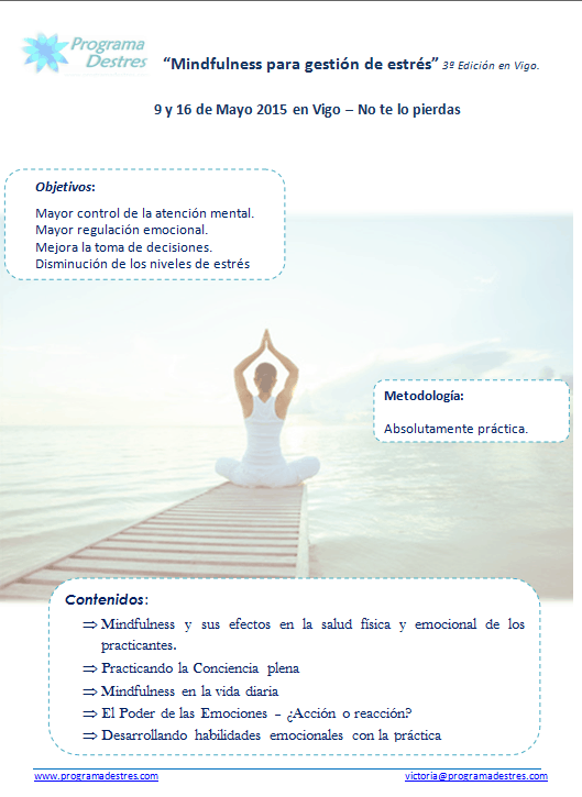 Mindfulness-9 y 16 mayo 2015 -Vigo