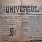 Ziarul Universul, vin. 14 iun. 1946, 4 pagini, stare buna