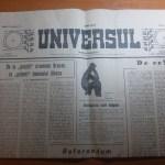 ziarul universul 10-16 mai 1990-art. despre iliescu si silviu brucan