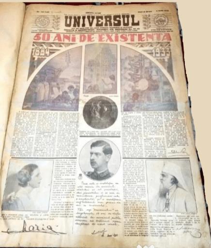 Universul - 50 de ani de existenta - 5 iunie 1933