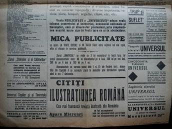 Ziarul Universul , editie speciala ,14 Sept. 1937 ;Moartea Presedintelui Masaryk 6