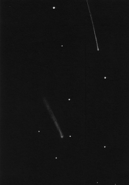 Comet Lovejoy C/2013 R1 and Geminid with naked eye - Dr. Johannes Schilling, Lonsee