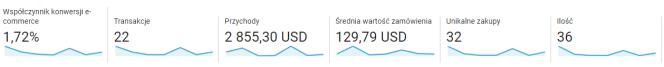 Google Analytics: dane