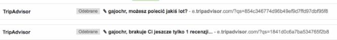 zła personalizacja maila