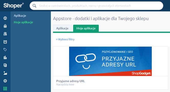 aplikacja przyjazne adresy URL