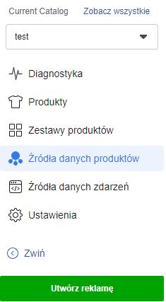 menu katalogów