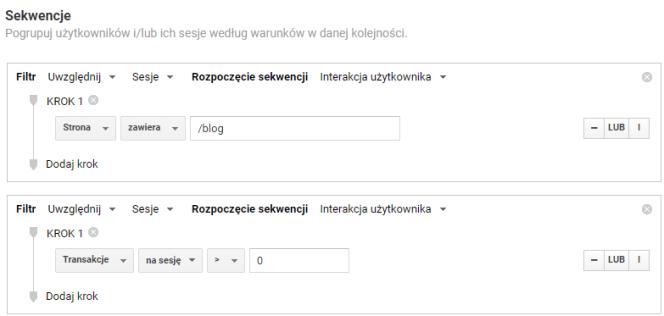 filtry w Google Analytics