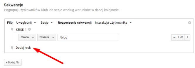 Strona zawiera... - Google Analytics