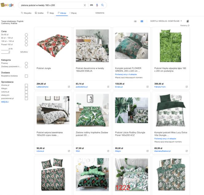 Reklama produktowa w zakładce Google Zakupy
