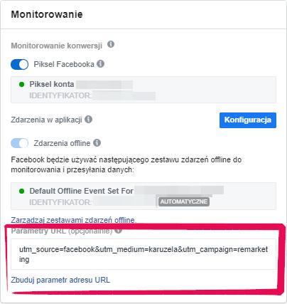 tworzenie parametrów URL na Facebooku