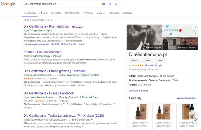 Dla Gentlemana - Google Moja Firma