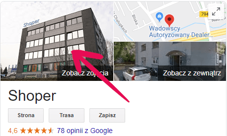 Okładka Google Moja Firma