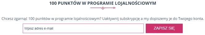 100 punktów w programie lojalnościowym - przykład