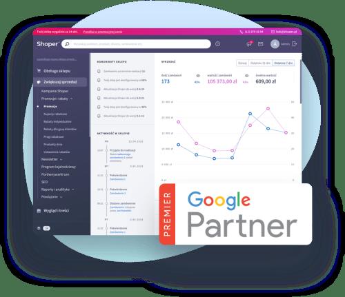 Shoper Kampanie – Google Premier