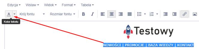 zmiana koloru tekstu w mailu