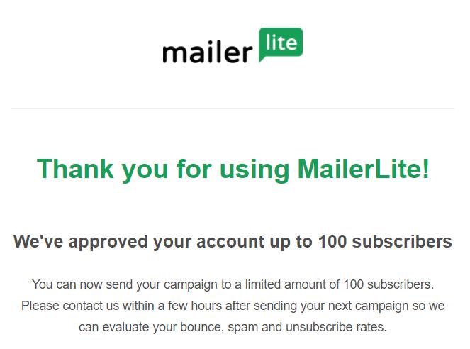 Rejestracja na MailerLite