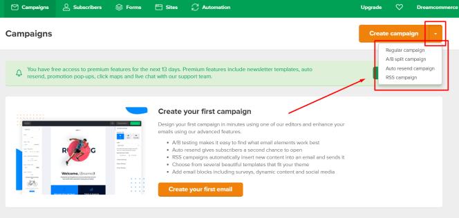 Tworzenie kampanii mailingowej w MailerLite