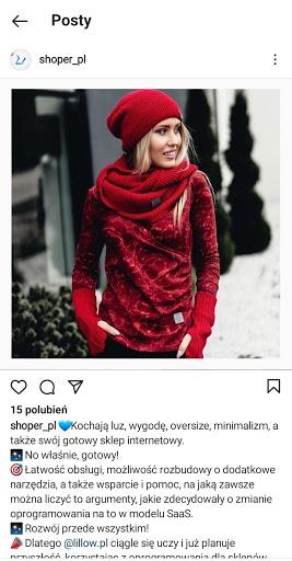 Zdjęcie kontekstowe na Instagramie
