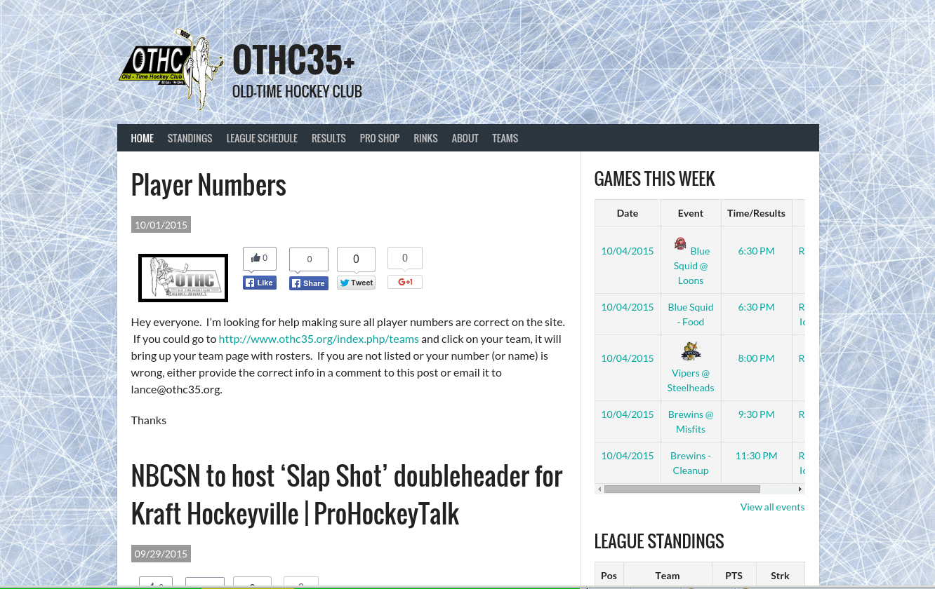 OTHC Adult Hockey League