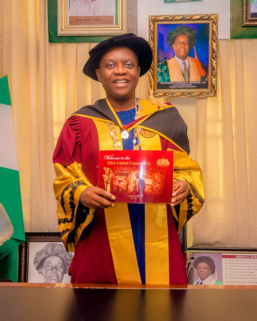 VC, Prof. Esimone bags awards from the University of Oxford Academic Union