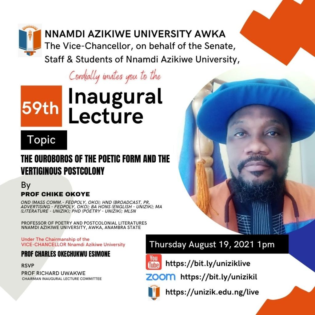 59th Inaugural Lecture Series by Prof. Chike Okoye