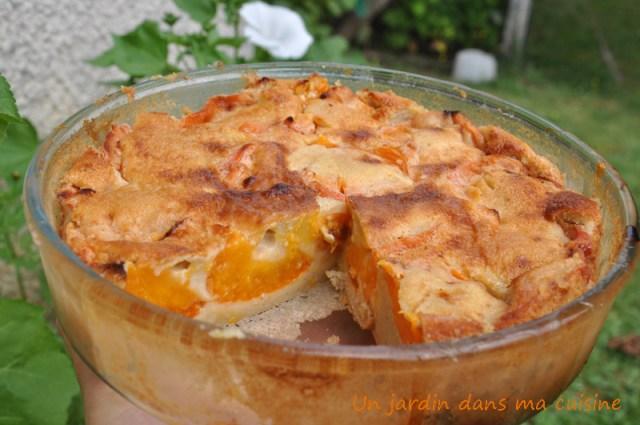 clafoutis abricots lait végétal un jardin dans ma cuisine