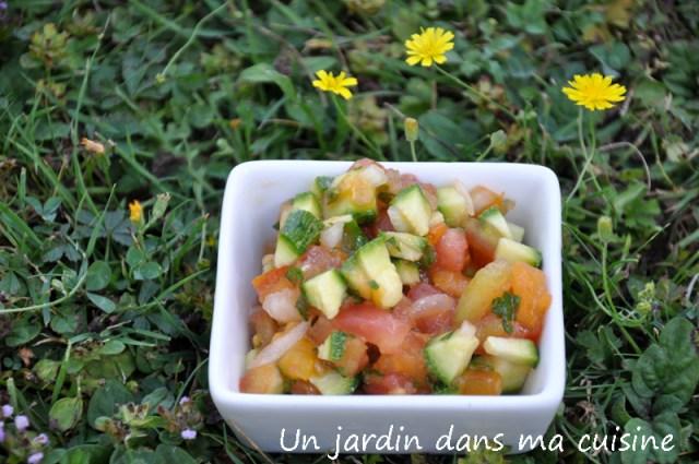 tartare de tomates courgettes