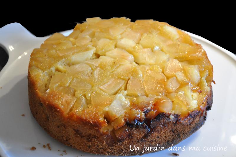 gâteau aux pommes tatin un jardin dans ma cuisine